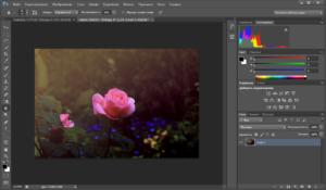 Пример интерфейса редактора Фотошоп
