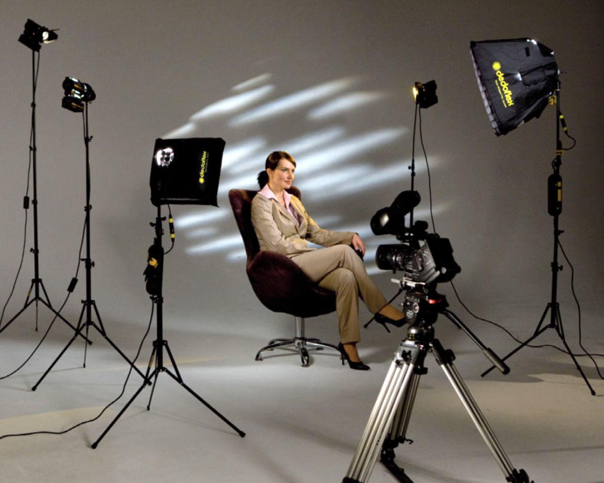 как сделать профессиональную портретную фотостудию полон огромных